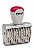 Trodat 15510 10 digit number stamp. Personalize, preview and purchase rubber stamps online. Custom rubber stamps, self-inking stamps, date stamps and more. Quick turnaround.