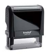 Trodat 4915 self inking address stamp.  Maximum Impression Size is 1 inch x 2 3/4 inch. 5 - 6 lines of text. Personalize, preview and purchase address rubber stamps online.