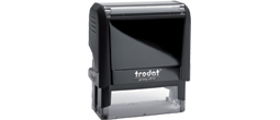 Trodat 4913 custom self inking rubber stamp. 7/8 inch x 2 3/8 inch. 4 - 5 lines of text. Personalize, preview and purchase rubber stamps online. Custom rubber stamps, self-inking stamps, date number stamps and more. Quick turnaround.