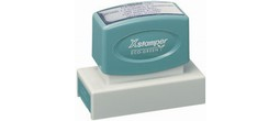 Xstamper N18 Pre Inked stamp. Personalize, preview and purchase rubber stamps online. Custom rubber stamps, self-inking stamps, date stamps and more. Quick turnaround.