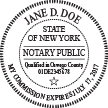New York Notary Round Rubber Stamp Sample