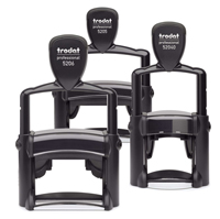 Trodat custom professional self Inking text stamps offer a lifetime of impressions. Perfect for home or office use. Choose your own size, font, image and color. Free shipping available